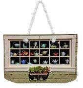 Tea Pots In Window Weekender Tote Bag