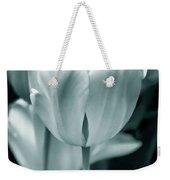 Teal Luminous Tulip Flowers Weekender Tote Bag