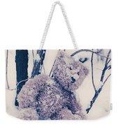 Teddy In Snow Weekender Tote Bag
