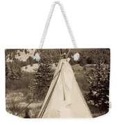 Teepee In The Snow Weekender Tote Bag