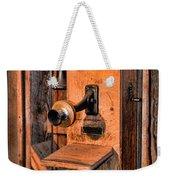 Telephone - Antique Hand Cranked Phone Weekender Tote Bag