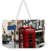 Telephone Box In London Weekender Tote Bag by Elena Elisseeva