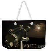 Telescope And Red Moon Weekender Tote Bag