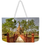Temple Bridge Weekender Tote Bag