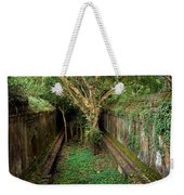 Temple Overgrown By The Jungle Weekender Tote Bag