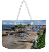 Tenby Harbour In Summer Weekender Tote Bag