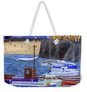 Painting Tenby Harbour With Boats Weekender Tote Bag