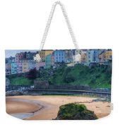 Tenby Over North Beach Painted Weekender Tote Bag