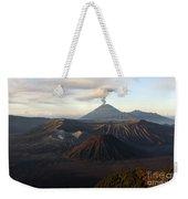 Tengger Caldera With Erupting Mount Weekender Tote Bag
