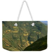 Terraced Fields Above Canyon Draining Weekender Tote Bag