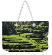 Terraced Rice Fields On Bali Island Weekender Tote Bag