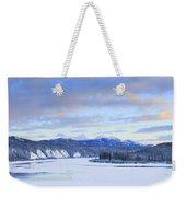 Teslin River At Sunset, Teslin, Yukon Weekender Tote Bag