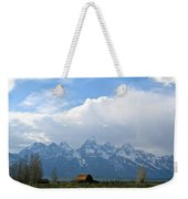 Teton Mountains And Barn Weekender Tote Bag