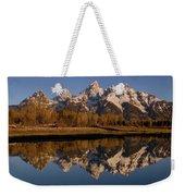 Teton Range, Grand Teton National Park Weekender Tote Bag by Pete Oxford