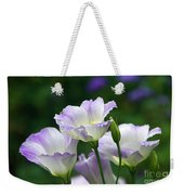 Texas Bluebell And Turquoise Visitor Weekender Tote Bag