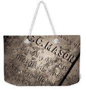 Tcm - C.c. Mason Grave Weekender Tote Bag