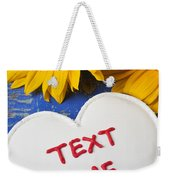 Text Me Weekender Tote Bag