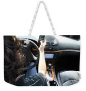 Texting And Driving Weekender Tote Bag by Photo Researchers, Inc.
