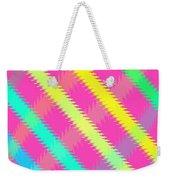 Textured Check Weekender Tote Bag