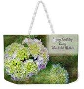 Textured Hydrangeas Birthday Mother Greeting Card Weekender Tote Bag