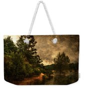 Textured Lake Weekender Tote Bag