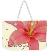 Thank You Card - Pink Lily Weekender Tote Bag