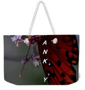 Thank You Card - Butterfly Weekender Tote Bag