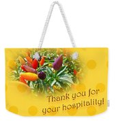 Thank You For Your Hospitality Greeting Card - Decorative Pepper Plant Weekender Tote Bag