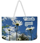 Thank You Greeting Card - Oxeye Daisy Wildflowers Weekender Tote Bag