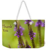 Thank You Wildflowers Weekender Tote Bag