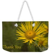 Thank You Yellow Aster Weekender Tote Bag