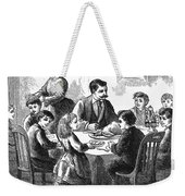 Thanksgiving Dinner, 1873 Weekender Tote Bag