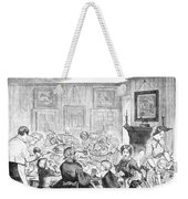 Thanskgiving Dinner, 1857 Weekender Tote Bag