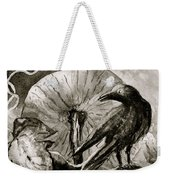 That Which Lies Behind In Black And White Weekender Tote Bag
