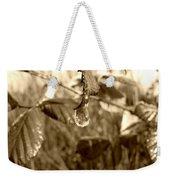 Thawing Sepia Leaves Weekender Tote Bag