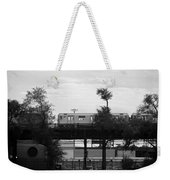 The 7 Line In Black And White Weekender Tote Bag