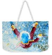 The Aerial Skier - 14 Weekender Tote Bag by Hanne Lore Koehler