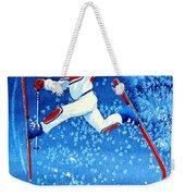 The Aerial Skier 16 Weekender Tote Bag