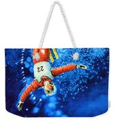 The Aerial Skier 20 Weekender Tote Bag