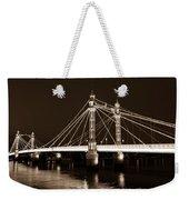 The Albert Bridge London Sepia Toned Weekender Tote Bag
