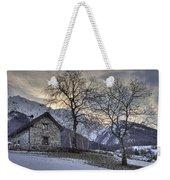 The Alps In Winter Weekender Tote Bag