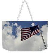 The American Flag Blowing In The Breeze Weekender Tote Bag