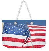 The American Flag Hangs Weekender Tote Bag