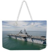 The Amphibious Assault Ship Uss Wasp Weekender Tote Bag
