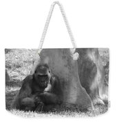 The Angry Ape In Black And White Weekender Tote Bag