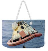 The Apollo 8 Capsule Being Hoisted Weekender Tote Bag
