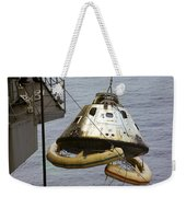 The Apollo 9 Command Module Is Hoisted Weekender Tote Bag