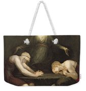 The Appearance Of Christ At Emmaus Weekender Tote Bag
