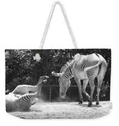 The Back End In Black And White Weekender Tote Bag