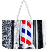 The Barber Pole Weekender Tote Bag